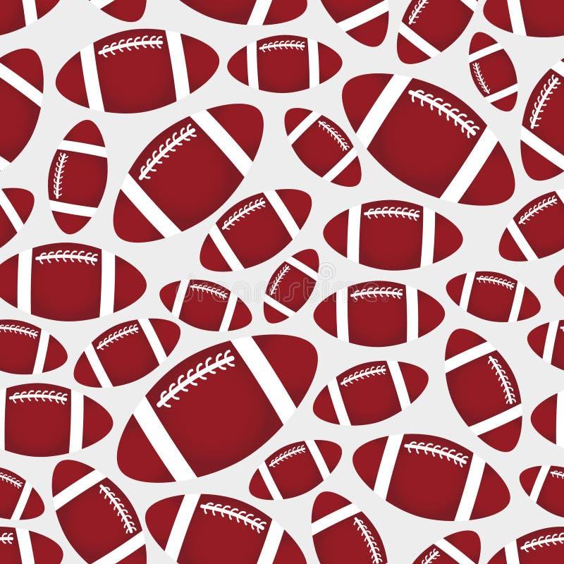 Sportmuster eps10 der Bälle des amerikanischen Fußballs nahtloses Farb vektor abbildung