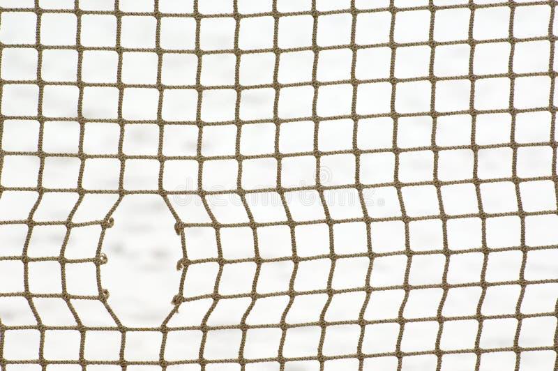 Sportnetz mit Loch stockbilder