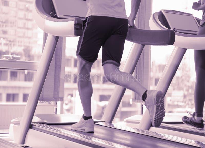 Sportowa ćwiczenie jogging na karuzeli fotografia royalty free