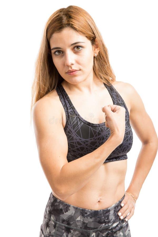 Sportowa i silna kobieta fotografia royalty free