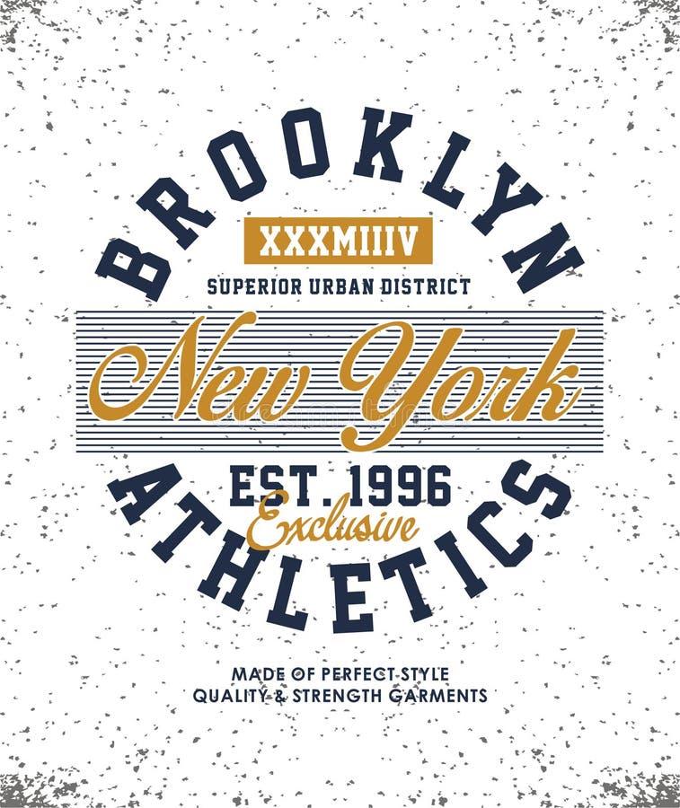 Sportowa Miasto Nowy Jork koszulki grafika ilustracji