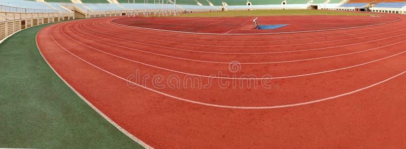 Sportowa zawodów atletycznych ocechowań panorama obraz stock