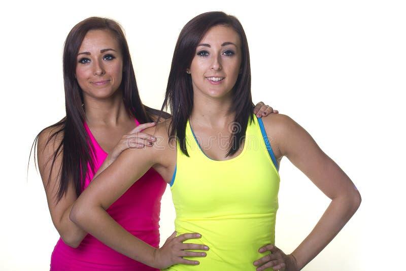 Sportowe bliźniacze siostry fotografia stock