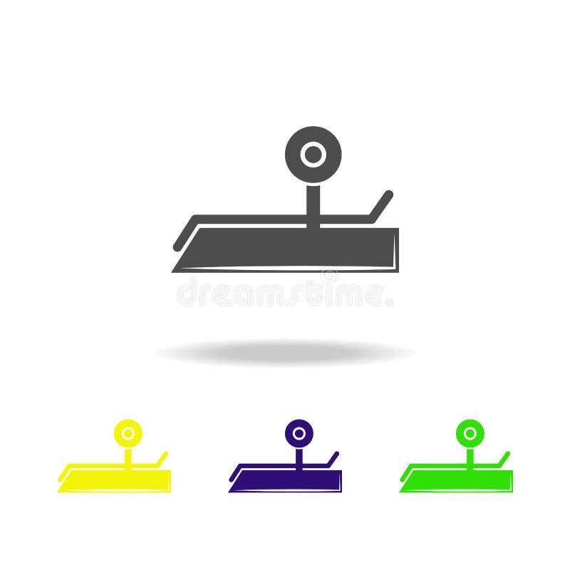 sportowego pociska stubarwne ikony Element sport ikona Może używać dla sieci, logo, mobilny app, UI, UX ilustracja wektor