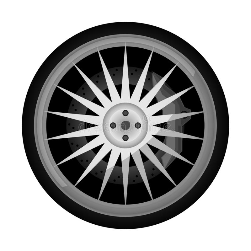Sportowego samochodu obręcza titanium ikona royalty ilustracja