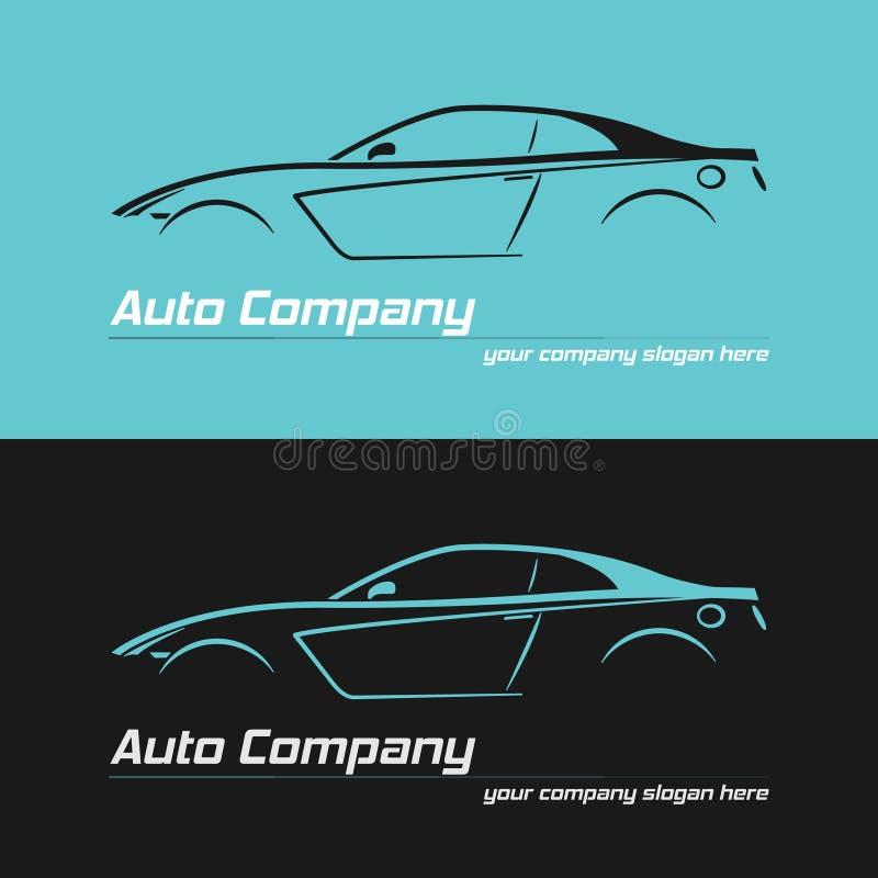 Sportowego samochodu projekta pojęcia automobilowych tematów loga projekta wektorowy szablon royalty ilustracja