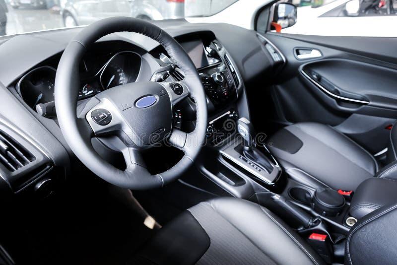 Sportowego samochodu wnętrze, taksówka zdjęcie stock