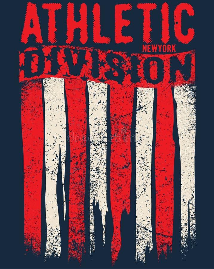 Sportowego sporta typografia, koszulek grafika, wektory ilustracja wektor