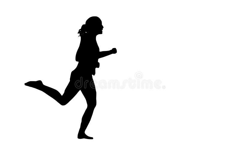 sportowej rozochoconej żeńskiej dziewczyny eleganccy potomstwa royalty ilustracja