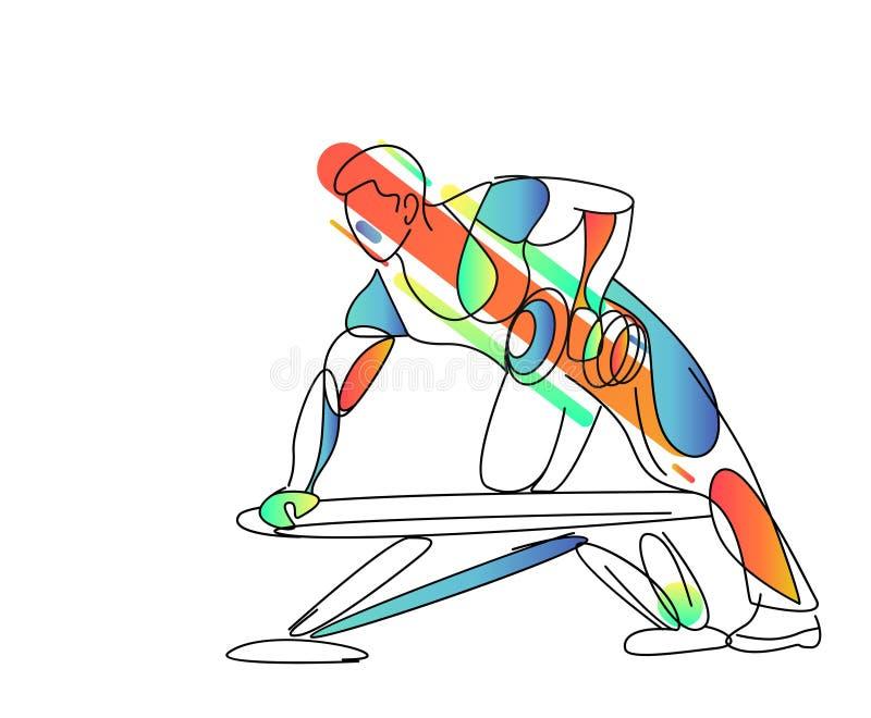 Sportowi mężczyźni pompuje w górę tylnych mięśni treningu bodybuilding ilustracji