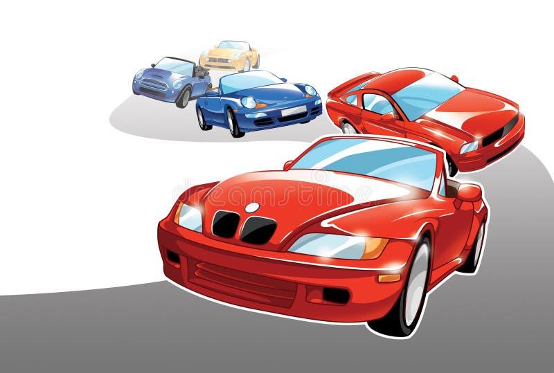Sportowi samochody royalty ilustracja