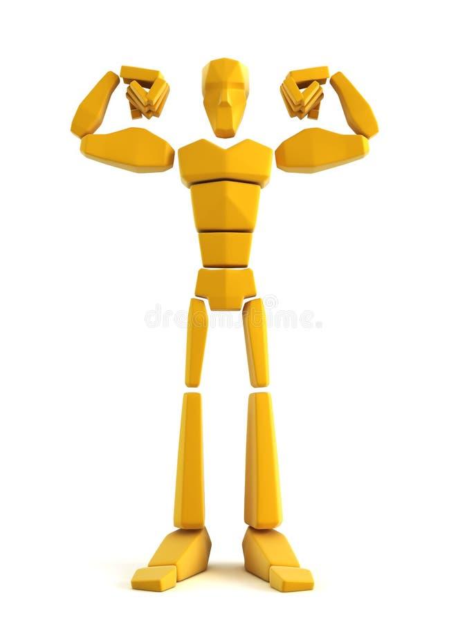 sportowiec symbolicznej 3 d ilustracja wektor