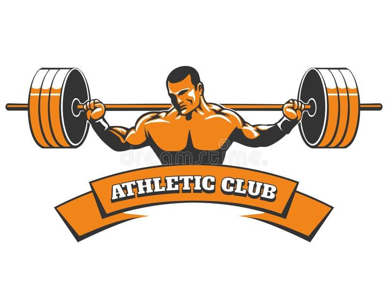 Sportowy lub Powerlifting klubu emblemat ilustracji