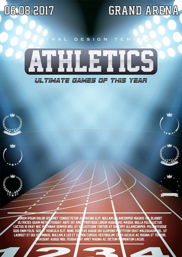 Sportowy plakat atletyka ilustracja wektor