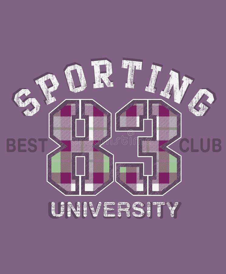 sportowy projekta uniwersytet ilustracja wektor