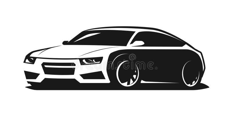 Sportowy samochód ikona lub logo Wiec, garażu symbol również zwrócić corel ilustracji wektora ilustracja wektor