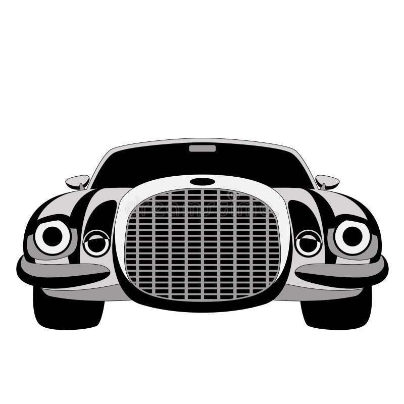 Sportowy samochód, wektorowa ilustracja, wykłada remis, przód ilustracji