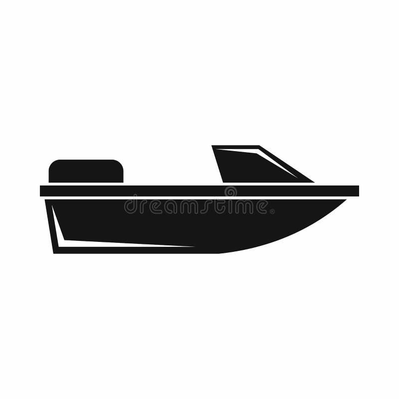 Sportpowerboatsymbol, enkel stil vektor illustrationer