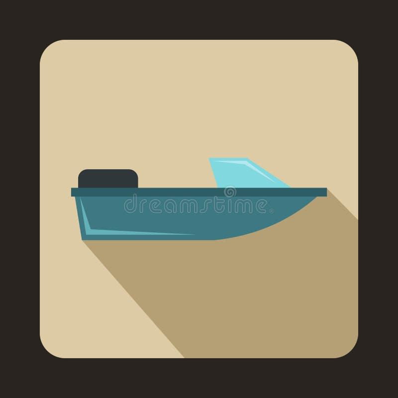Sportpowerboatsymbol, lägenhetstil stock illustrationer