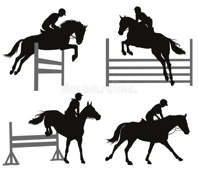 Sports équestres réglés illustration de vecteur