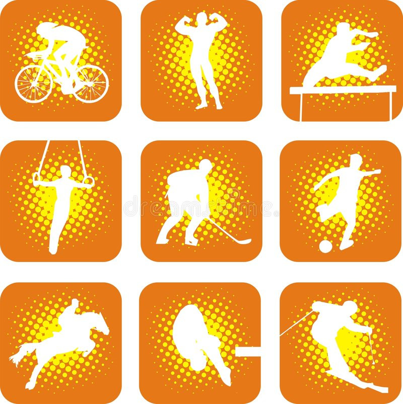 Download Sports 1 stock vector. Image of race, game, dive, human - 6802814