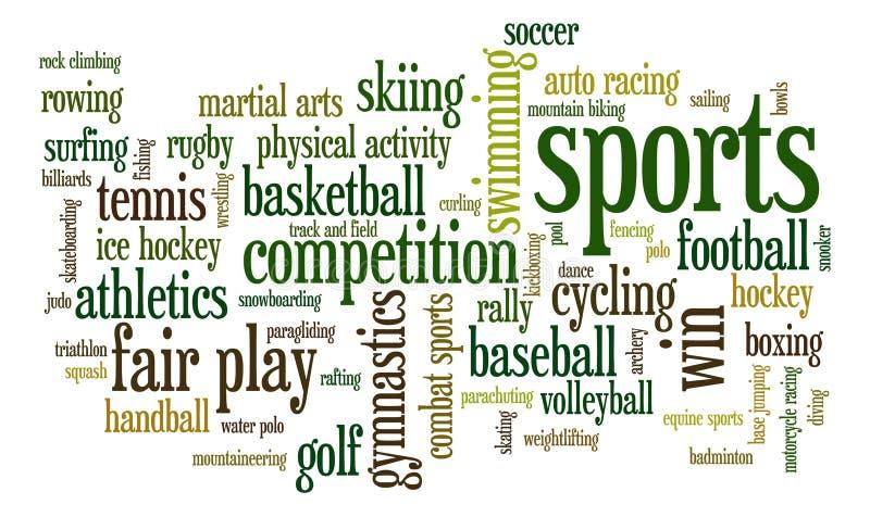 Sports royalty free illustration