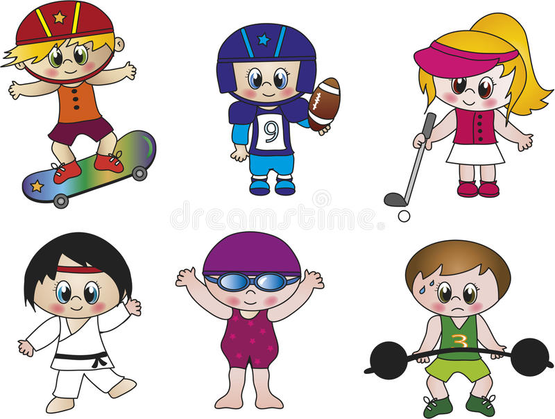 Download Sports stock illustration. Image of funny, male, children - 26792362
