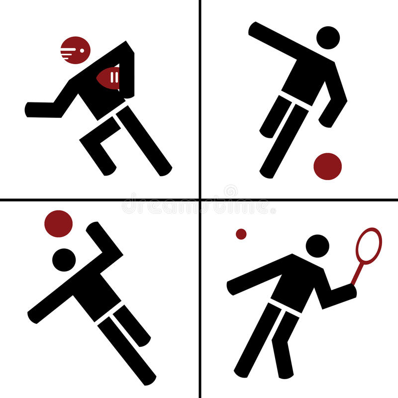 Sports illustration libre de droits