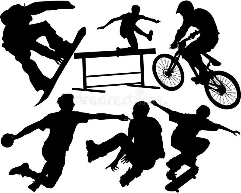 Download Sports stock vector. Image of energetic, fitness, dangerous - 7868051