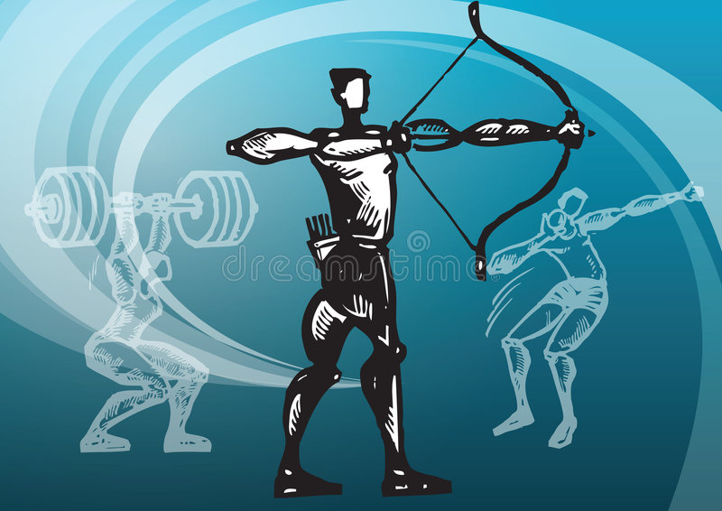 Download Sports_archery stock vector. Illustration of sports, drawn - 8743258