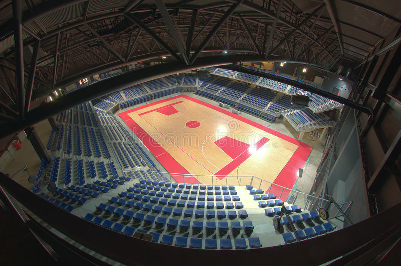 Sports arena. Multifunctional indoor arena meant for concerts, events and sports royalty free stock images