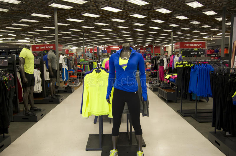 Sports Authority clothing fashion store stock photos