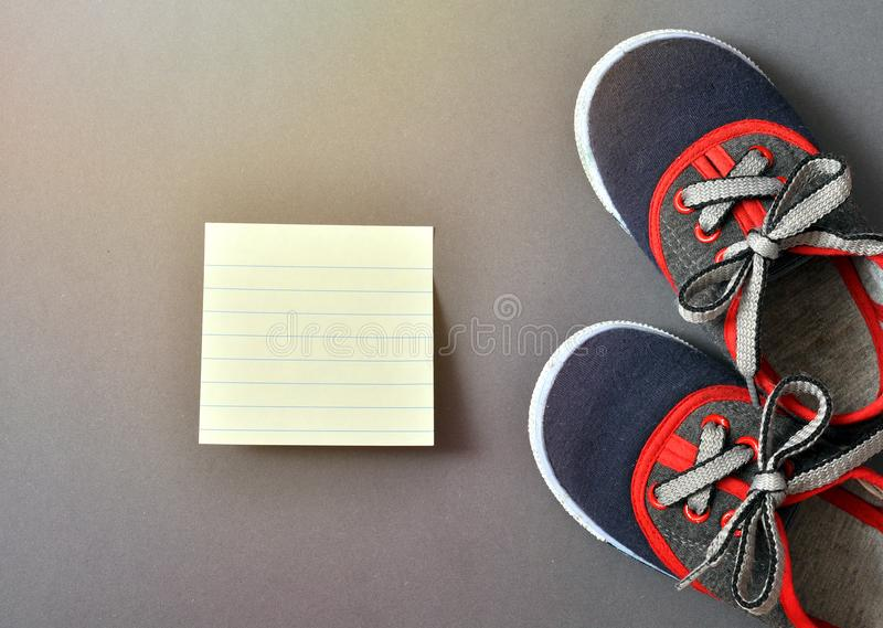 Sports baby sneakers royalty free stock image