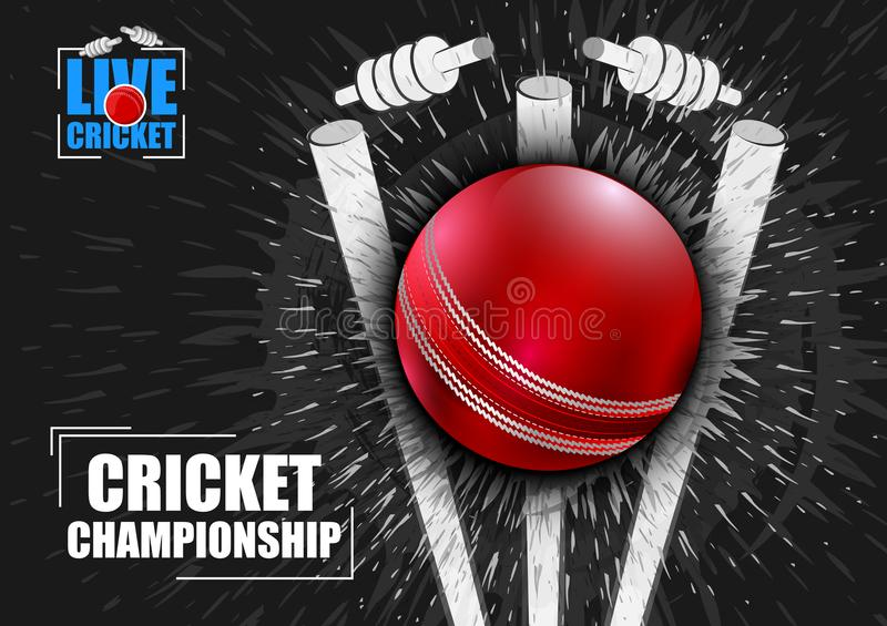 Sports background for the match of Cricket Championship Tournament vector illustration