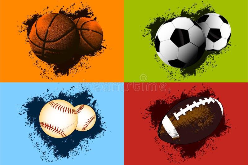 Sports Ball Background stock illustration