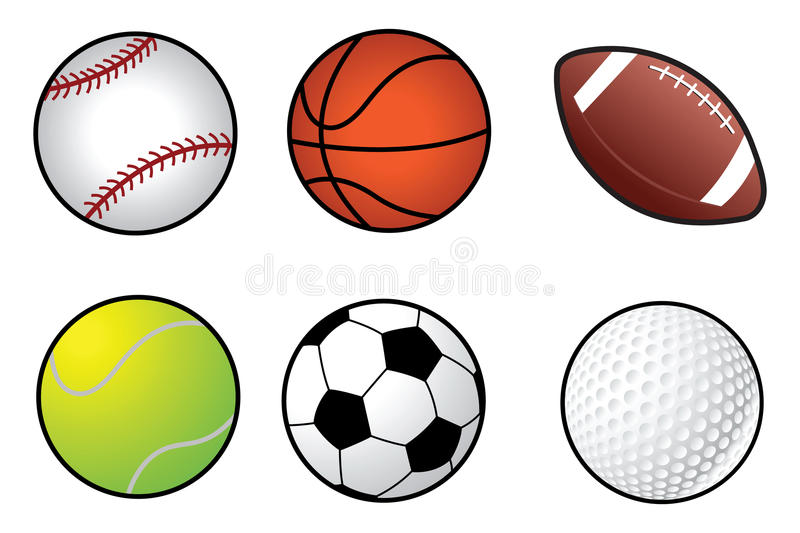 Sports ball collection vector illustration