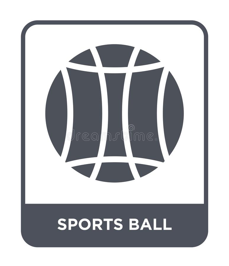 sports ball icon in trendy design style. sports ball icon isolated on white background. sports ball vector icon simple and modern royalty free illustration