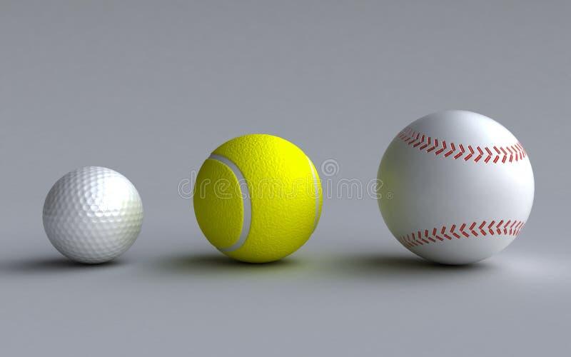 Download Sports balls stock illustration. Image of render, base - 27843559
