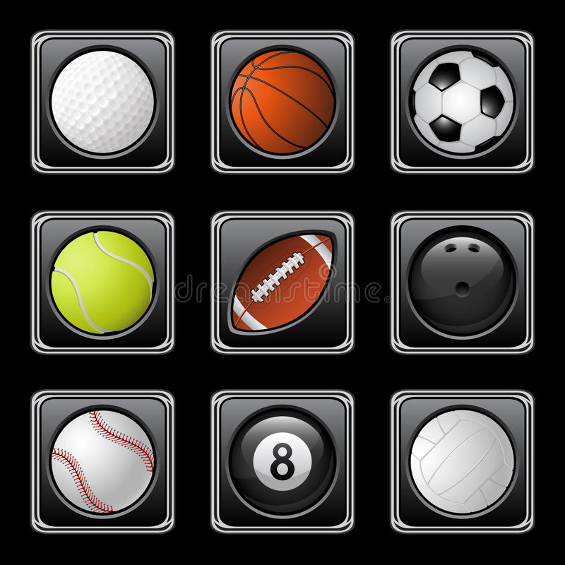 Download Sports balls icons stock vector. Illustration of white - 18605976