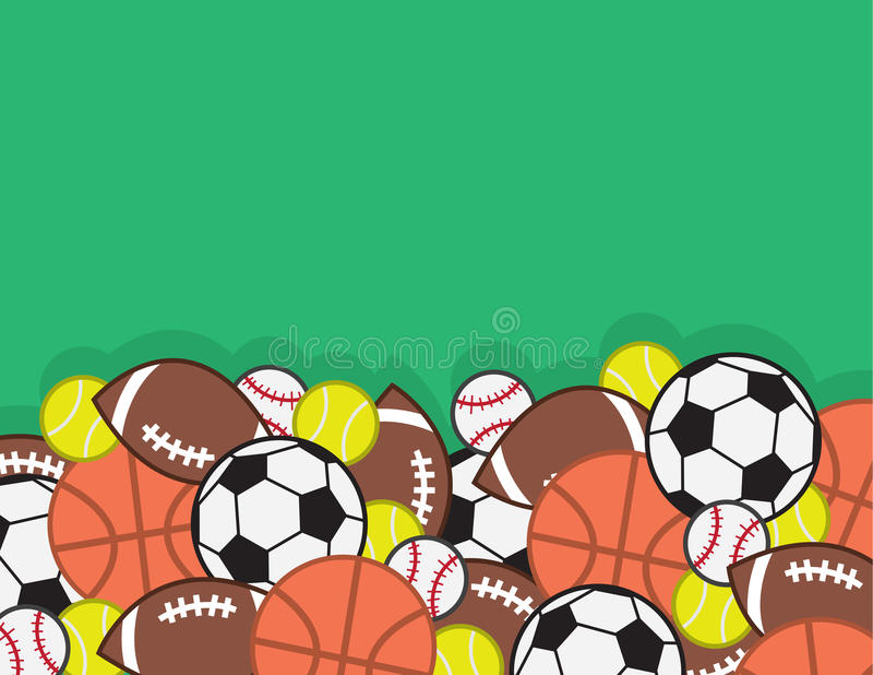Download Sports Balls Pile Stock Vector Illustration Of Isolated