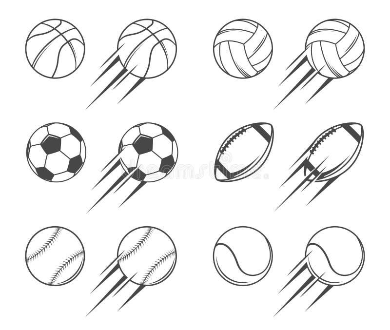 Sports balls royalty free illustration
