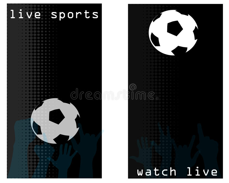 Sports bar flyer cards royalty free illustration