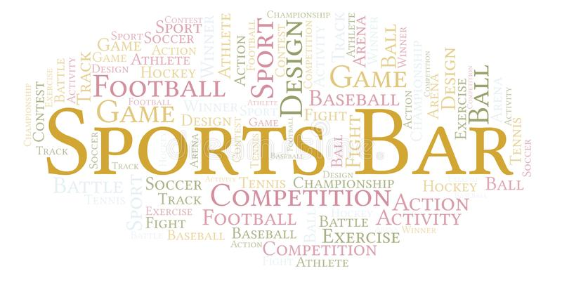 Sports Bar word cloud. royalty free illustration