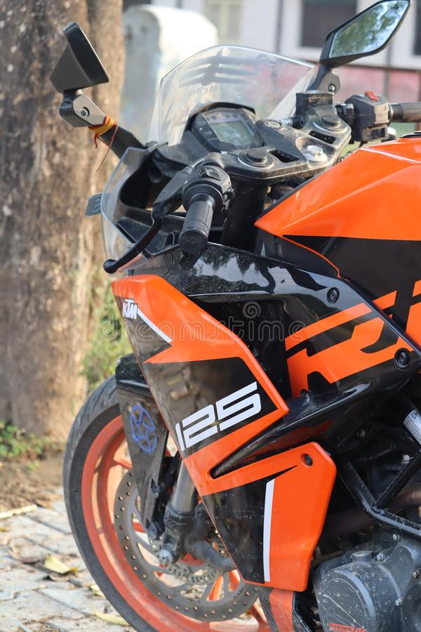 Bikes dslr shots sports bike blur sports bike. Sports Bikes in group  ktm 125  india blur effect close photography stock photography