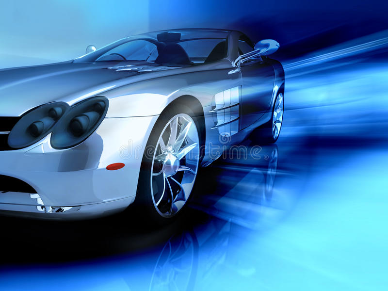 Sports blue car stock illustration