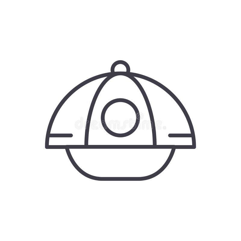 Sports cap black icon concept. Sports cap flat vector symbol, sign, illustration. royalty free illustration