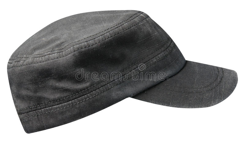 Sports cap isolated on a white background .black cap.  royalty free stock photo