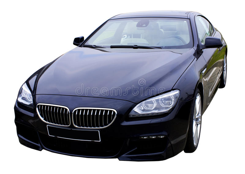 Sports car. New bmw 6 series, isolated