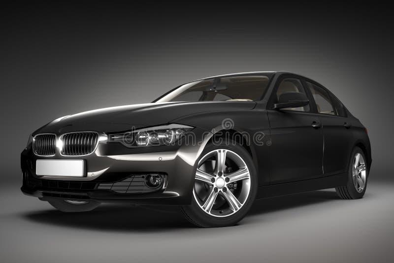 Sports car. 3d render stock illustration