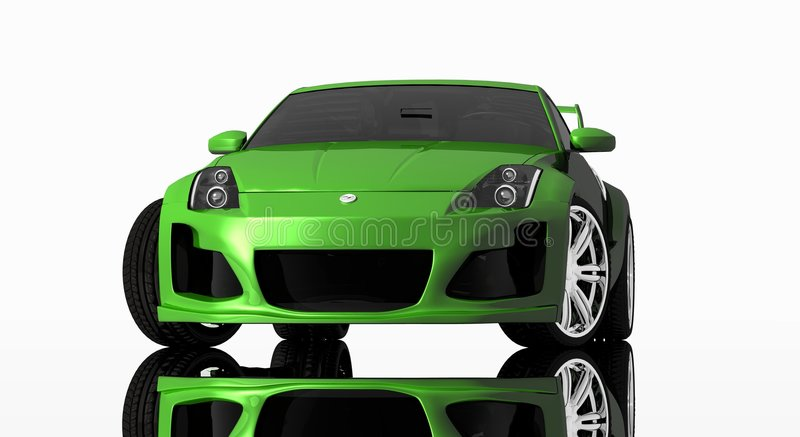 Sports car royalty free illustration